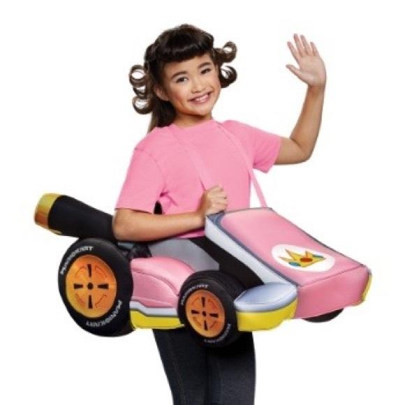 Princess Peach Mario Kart Costume Girls Nwt
